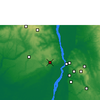 Nearby Forecast Locations - Ogwashi Ukwu - Map