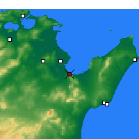 Nearby Forecast Locations - Hammam-Lif - Map