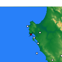 Nearby Forecast Locations - Saldanha - Map
