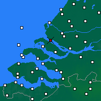 Nearby Forecast Locations - Hellevoetsluis - Map