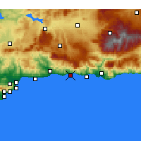 Nearby Forecast Locations - Nerja - Map