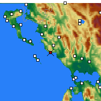Nearby Forecast Locations - Parga - Map