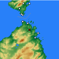 Nearby Forecast Locations - Arzachena - Map