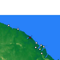 Nearby Forecast Locations - Kourou - Map