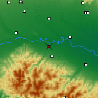Nearby Forecast Locations - Piacenza - Map