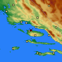 Nearby Forecast Locations - Supetar - Map