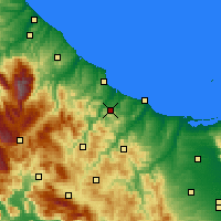 Nearby Forecast Locations - Montenero di Bisaccia - Map