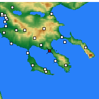 Nearby Forecast Locations - Nikiti - Map