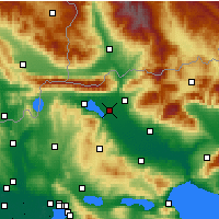 Nearby Forecast Locations - Irakleia - Map