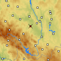 Nearby Forecast Locations - Vodňany - Map