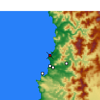 Nearby Forecast Locations - Quintero - Map