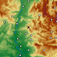 Nearby Forecast Locations - Dieulefit - Map