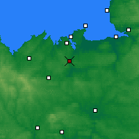 Nearby Forecast Locations - Dinan - Map