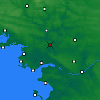 Nearby Forecast Locations - Saint-Gildas-des-Bois - Map