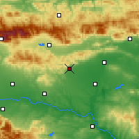 Nearby Forecast Locations - Stara Zagora - Map