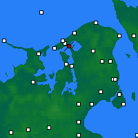 Nearby Forecast Locations - Frederiksværk - Map