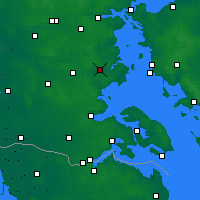 Nearby Forecast Locations - Haderslev - Map