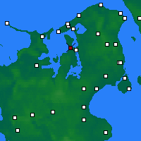 Nearby Forecast Locations - Jægerspris - Map