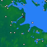 Nearby Forecast Locations - Karby - Map