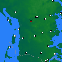 Nearby Forecast Locations - Lintrup Sogn - Map