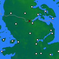 Nearby Forecast Locations - Padborg - Map