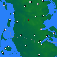 Nearby Forecast Locations - Toftlund Sogn - Map