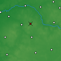 Nearby Forecast Locations - Sokołów Podlaski - Map
