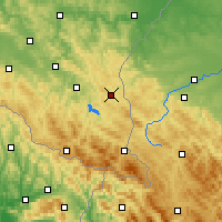 Nearby Forecast Locations - Ustrzyki Dolne - Map