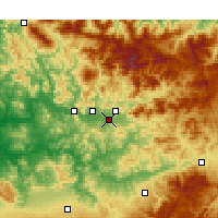 Nearby Forecast Locations - Ain Aicha - Map