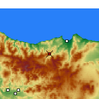 Nearby Forecast Locations - Ghafsai - Map