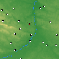 Nearby Forecast Locations - Ożarów - Map