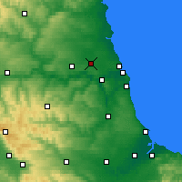 Nearby Forecast Locations - Newcastle upon Tyne - Map