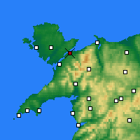 Nearby Forecast Locations - Menai Bridge - Map