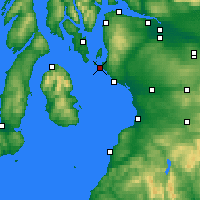 Nearby Forecast Locations - Firth of Clyde - Map