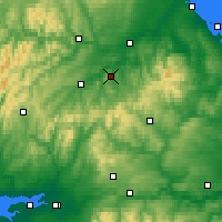 Nearby Forecast Locations - Jedburgh - Map