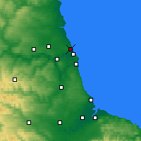 Nearby Forecast Locations - Tynemouth - Map