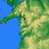 Nearby Forecast Locations - Llyn Trawsfynydd - Map