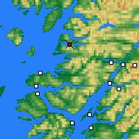 Nearby Forecast Locations - Loch Morar - Map