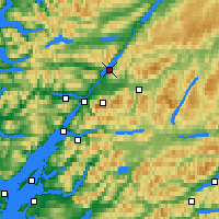 Nearby Forecast Locations - Loch Lochy - Map