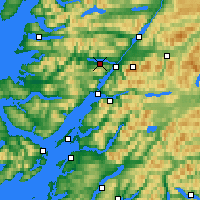 Nearby Forecast Locations - Loch Eil - Map
