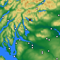 Nearby Forecast Locations - Loch Katrine - Map