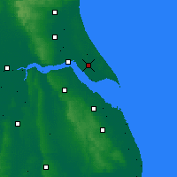 Nearby Forecast Locations - Burstwick - Map