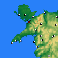 Nearby Forecast Locations - Caernarfon - Map
