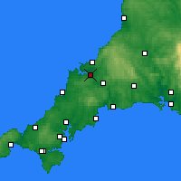 Nearby Forecast Locations - Wadebridge - Map