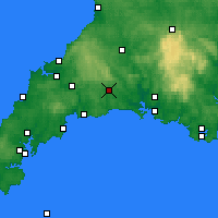 Nearby Forecast Locations - Liskeard - Map