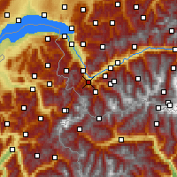Nearby Forecast Locations - Martigny - Map