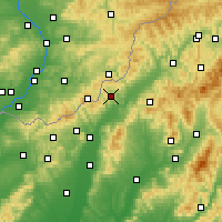 Nearby Forecast Locations - Horná Súča - Map