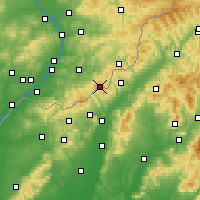 Nearby Forecast Locations - Mikulcak - Map