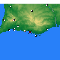 Nearby Forecast Locations - Quarteira - Map
