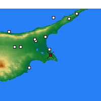 Nearby Forecast Locations - Paralimni - Map